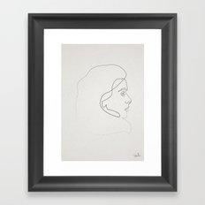 One line Catherine Deneuve Framed Art Print