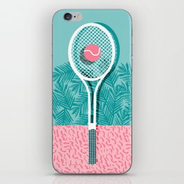 Good to go - memphis throwback 1980s neon pastel abstract sports tennis racquetball athlete game  iPhone Skin