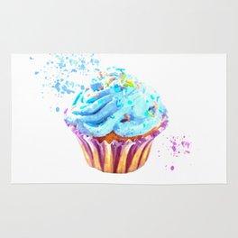 Cupcake watercolor illustration Rug