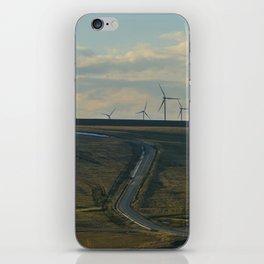 wind turbines iPhone Skin