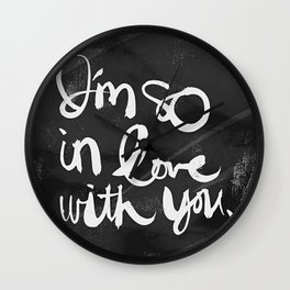 So In Love (Charcoal) Wall Clock