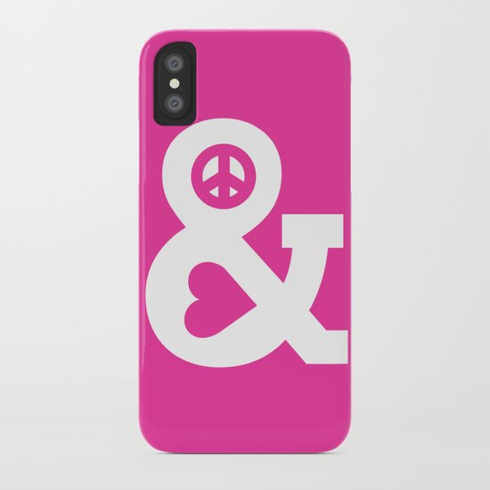 Peace and Love (pink edition) iPhone Case