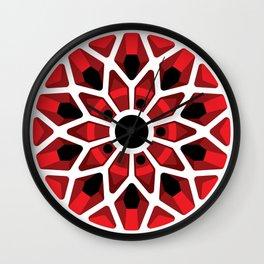 Retro Rim 1, Red Wall Clock