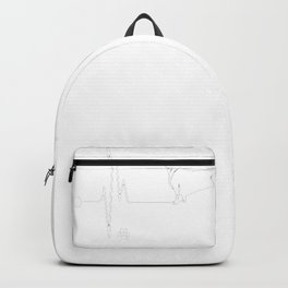 Dachshund-tshirt,-i-love-Dachshund-heart-beat Backpack