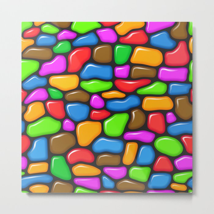Colorful jelly beans pattern Metal Print