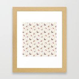 Boho llama Framed Art Print