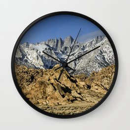 Mt Whitney And The Alabama Hills 2-24-19 Wall Clock