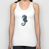 sea horse Tank Tops featuring sea & horse by Steffi Louis