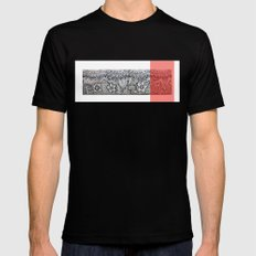 Four sides of a box (iv) Black MEDIUM Mens Fitted Tee
