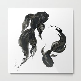 Koi fishes Metal Print