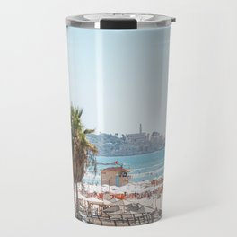 View of Old Jaffa from Gordon Beach, Tel Aviv, Israel Travel Mug