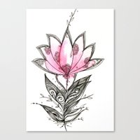 lotus flower Canvas Prints featuring Lotus by Himadri Pachori
