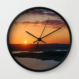 Calming warm sunset Wall Clock