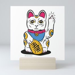 Lucky Cat Flip Mini Art Print