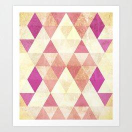 Triangles::Gritty Art Print