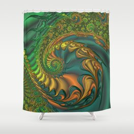Dragon's Lair - Fractal Art Shower Curtain