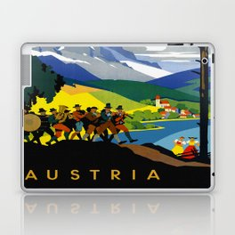 Austria - Vintage Travel Ad Laptop & iPad Skin
