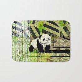 Panda Cub  Abstract vintage pop art composition Bath Mat