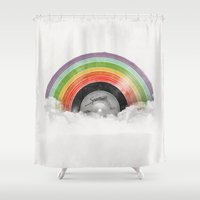 rainbow Shower Curtains featuring Rainbow Classics by Florent Bodart / Speakerine