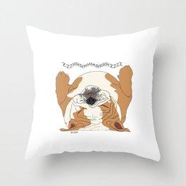 English Bulldog Sounds Throw Pillow