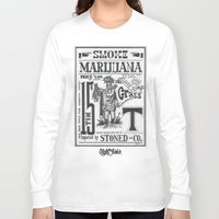 marijuana Long Sleeve T-shirts featuring SMOKE MARIJUANA by NIGHTJUNKIE