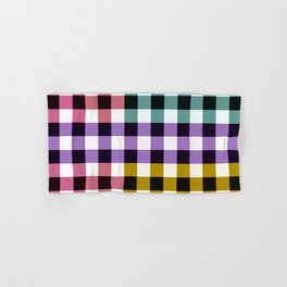 Colorful Gradient Checkerboard Pattern Hand & Bath Towel