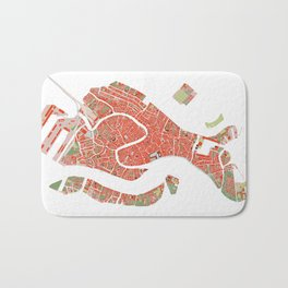 Venice city map classic Bath Mat