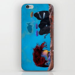 The Three Incomparable Wise Men Lecture the Unruly Giant on a Matter of Virtue iPhone Skin