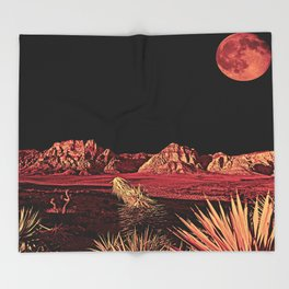 Full Red Rocks Throw Blanket