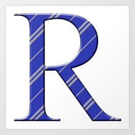 R for Ravenclaw Art Print
