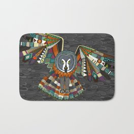 night owl charcoal Bath Mat
