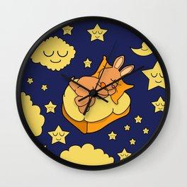 Sleeping Bunny Wall Clock
