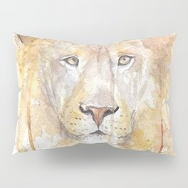 """Watercolor Painting of Picture """"African Lion"""" Pillow Sham"""