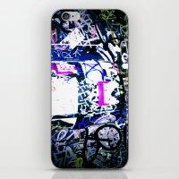 bathroom iPhone & iPod Skins featuring Bathroom Graffiti by Bendey