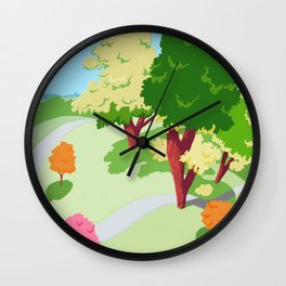 Sunnyside Park In The Spring Wall Clock