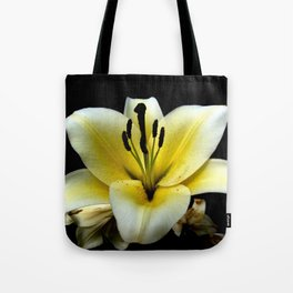 Wonderful Flower yellow and black Tote Bag