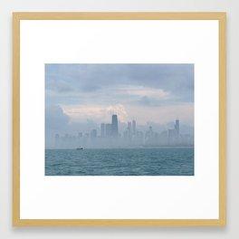 Foggy Skyline #1 Framed Art Print