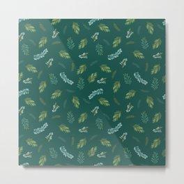 Winter Spruce Pattern Metal Print