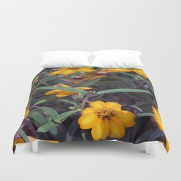 Small Orange Flowers Duvet Cover