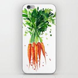 watercolor carrots iPhone Skin