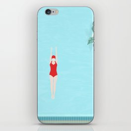 Girl with red swimsuit 2 iPhone Skin