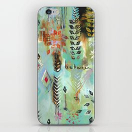 """""""Fly Free Between"""" Original Painting by Flora Bowley iPhone Skin"""