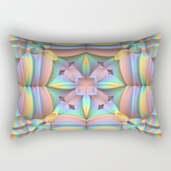 Symmetry in Pastels Rectangular Pillow