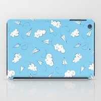 planes iPad Cases featuring Paper planes by Sil Elorduy