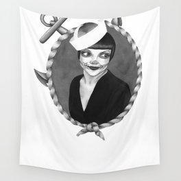 Poppy Sailor Wall Tapestry