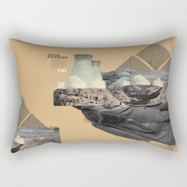 The future a time to reminisce. (mixed media) Rectangular Pillow
