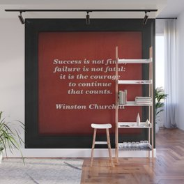 Winston Churchill Success Quote - Corbin Henry - Famous Quotes Wall Mural