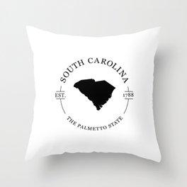 South Carolina - The Palmetto State Throw Pillow