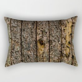 Rough Pine Planks Rectangular Pillow
