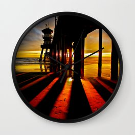Surf City Sunsets Wall Clock